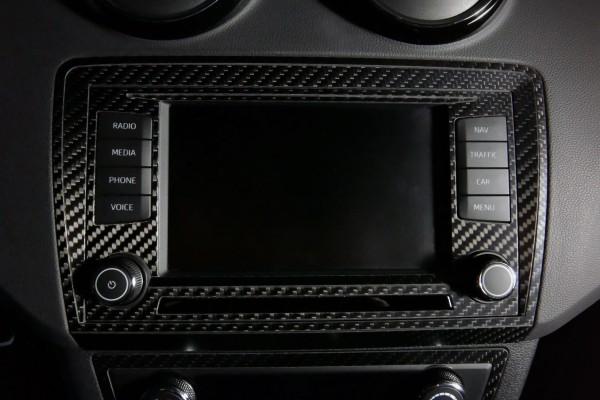 """Seat Ibiza 6P Carbon Blende Navi 6,5"""" + Umrandung"""