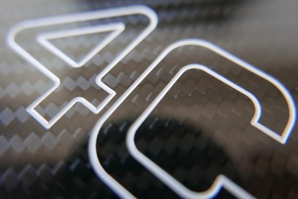 Alfa Romeo 4c Carbon Plakette für Mittelkonsole